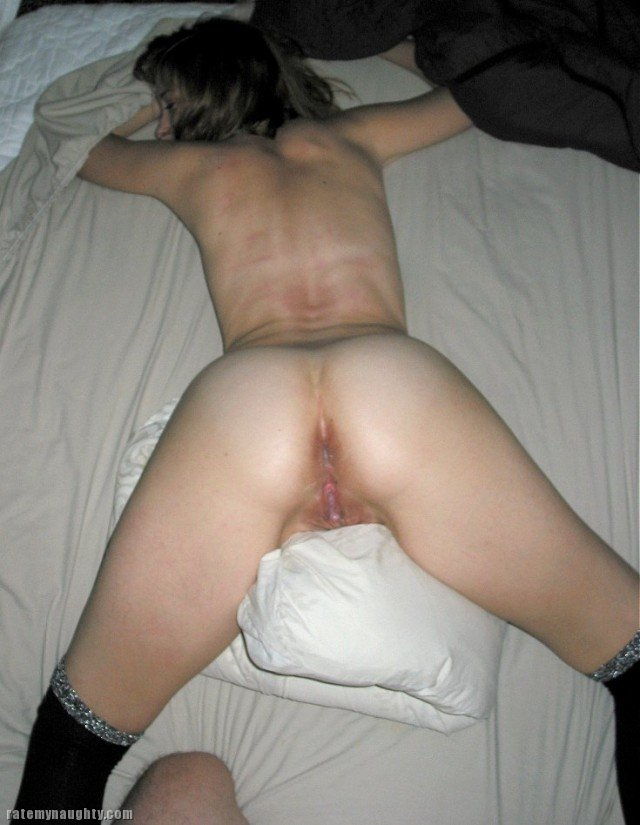 Wife freshly fucked ass