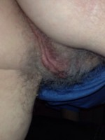 Wife's hairy pussy from behind !!