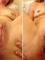 Compare shaved vs unshaved pussy