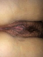 My girlfriends hairy wet pussy