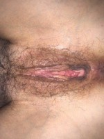 Wife spread pussy