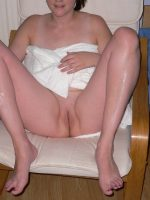 Shaved Milf pussy for you