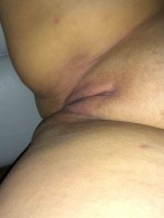 Chubby wife smooth pussy