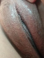 Swollen pussy after masturbation session
