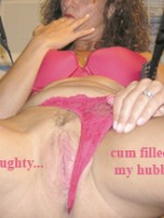 Eating B/f's Cum while hubby watches…
