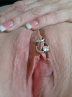 Love my gf's shaved pussy
